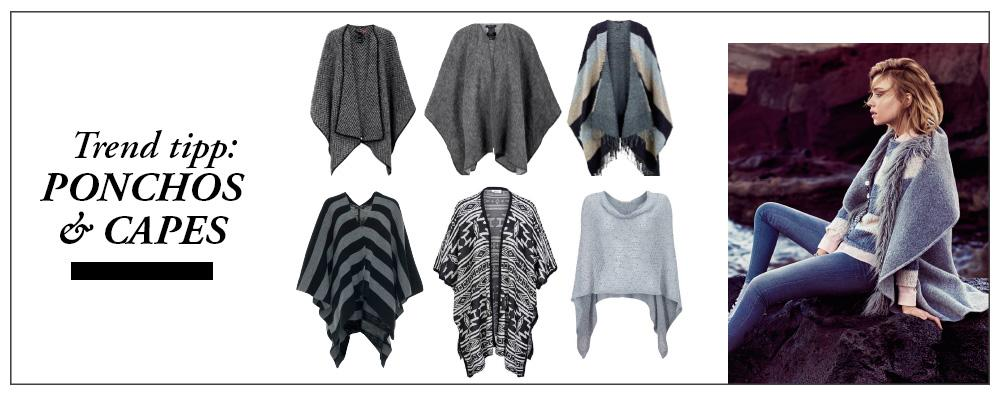 Ponchos & Capes - trend tipp