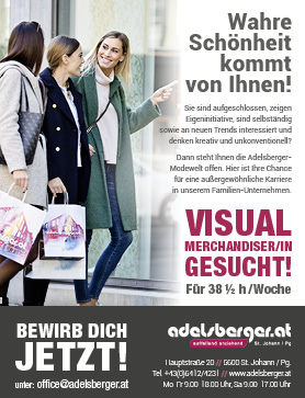 VISUAL MERCHANDISER/IN GESUCHT!